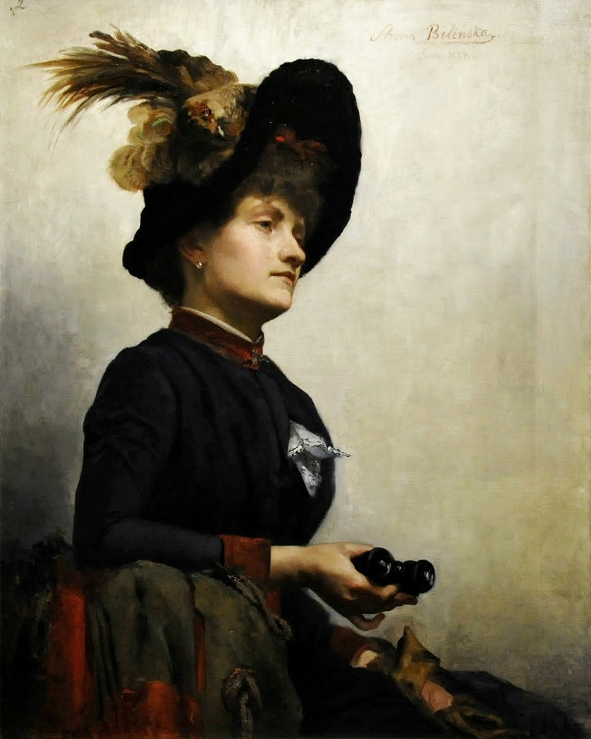 Portrait of a lady with binoculars
