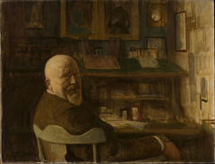 Portrait of a man at the desk