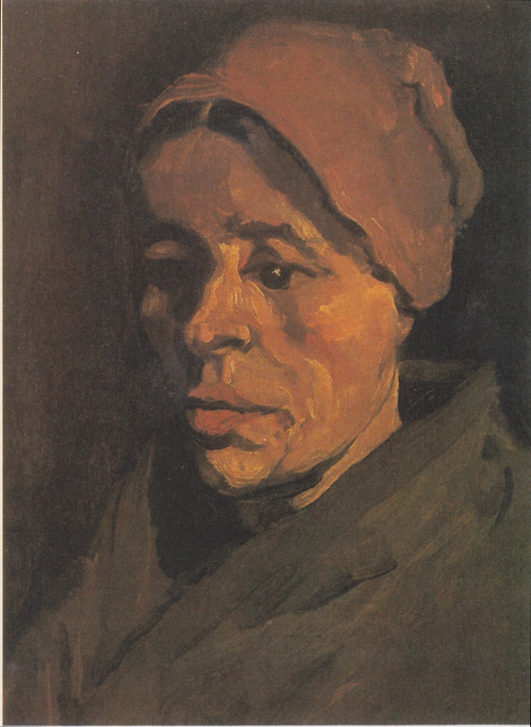Head of a Peasant Woman with a brownish hood