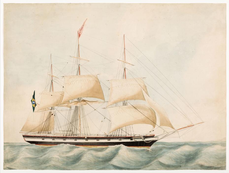 Veleiro de três mastros (atribuído)