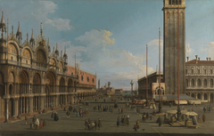 Venice: The Piazza and Piazzetta from the Torre dell'Orologio towards San Giorgio
