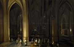 Viaticum inside a church