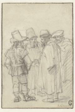 Vier mannen in gesprek