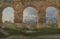 A View through Three Arches of the Third Storey of the Colosseum