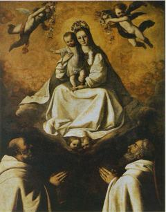 Virgin of Mercy with Two Mercedarians