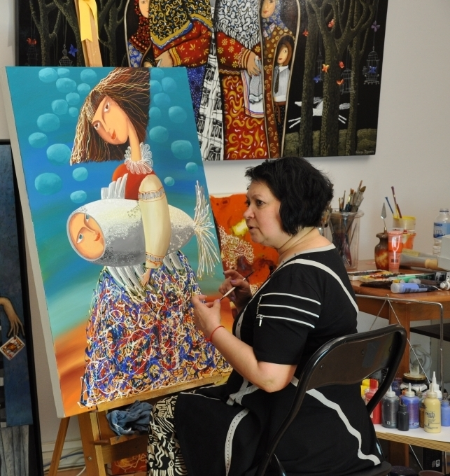 Yelena Dyumin featured artist on Colour in Your Life TV Show