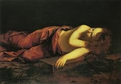 Young Jesus sleeping on the Cross