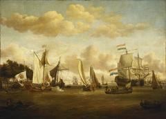 A Dutch Yacht on the River Y