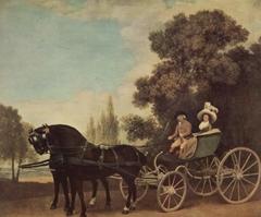 A Gentleman driving a Lady in a Phaeton