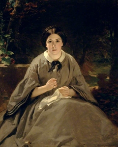 A Lady in Grey (Portrait of the Artist's Daughter, later Mrs Wiseman)