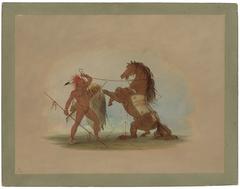 A Pawnee Warrior Sacrificing His Favorite Horse