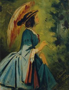 Anna Schwind, die Tochter des Künstlers