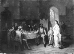 Anno 1343. Eleonora van Engeland voorspelt Reinoud van Gelre de rampen van zijn huis
