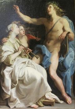 Apollon, Euterpe and Urania