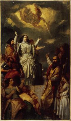 Apothéose de sainte Geneviève, esquisse pour le tableau de l'église Notre-Dame-de-Lorette