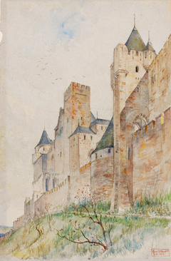 Battlements of Carcassonne, France