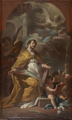 Bishop Saint in Prayer
