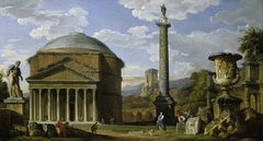 Capriccio of Roman Ruins with the Pantheon