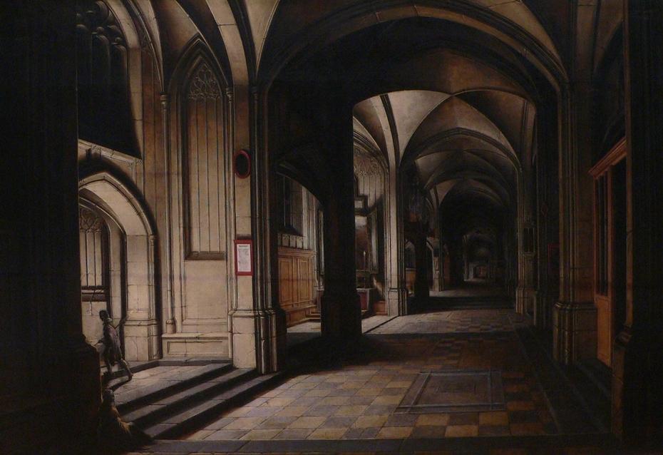 Church Interior, Night Effect