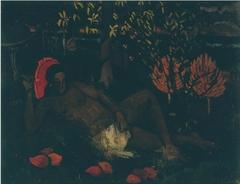 "Copy of Paula Gauguin painting ""Te Arii Vahine"""