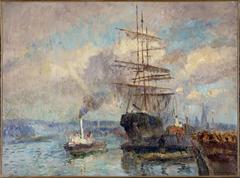 Dans le port de Rouen