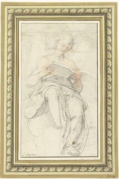 Engel op een wolk in een boek lezend