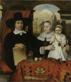 Family Portrait of Willem van der Helm, Architect of the Town of Leiden, and his Wife Belytgen Cornelisdr van de Schelt and their young Son Leendert