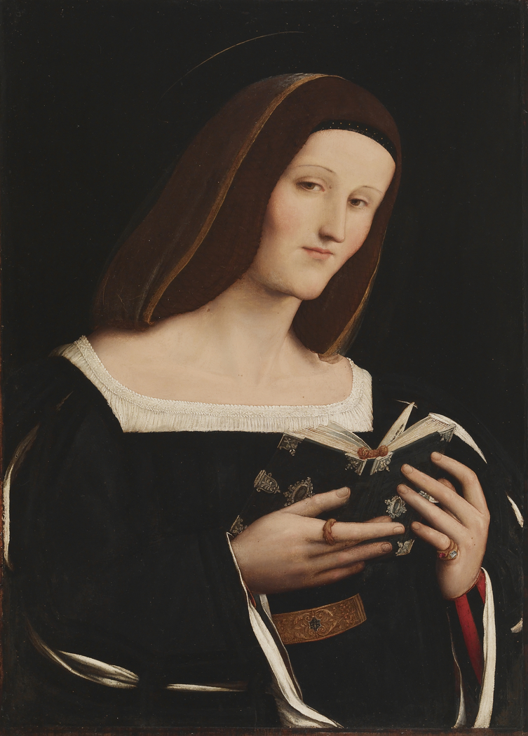 Portrait Of A Young Woman As A Saint Amico Aspertini