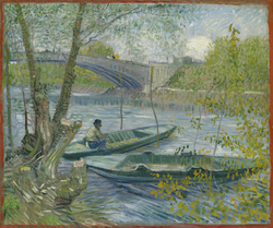 Fishing in Spring, the Pont de Clichy