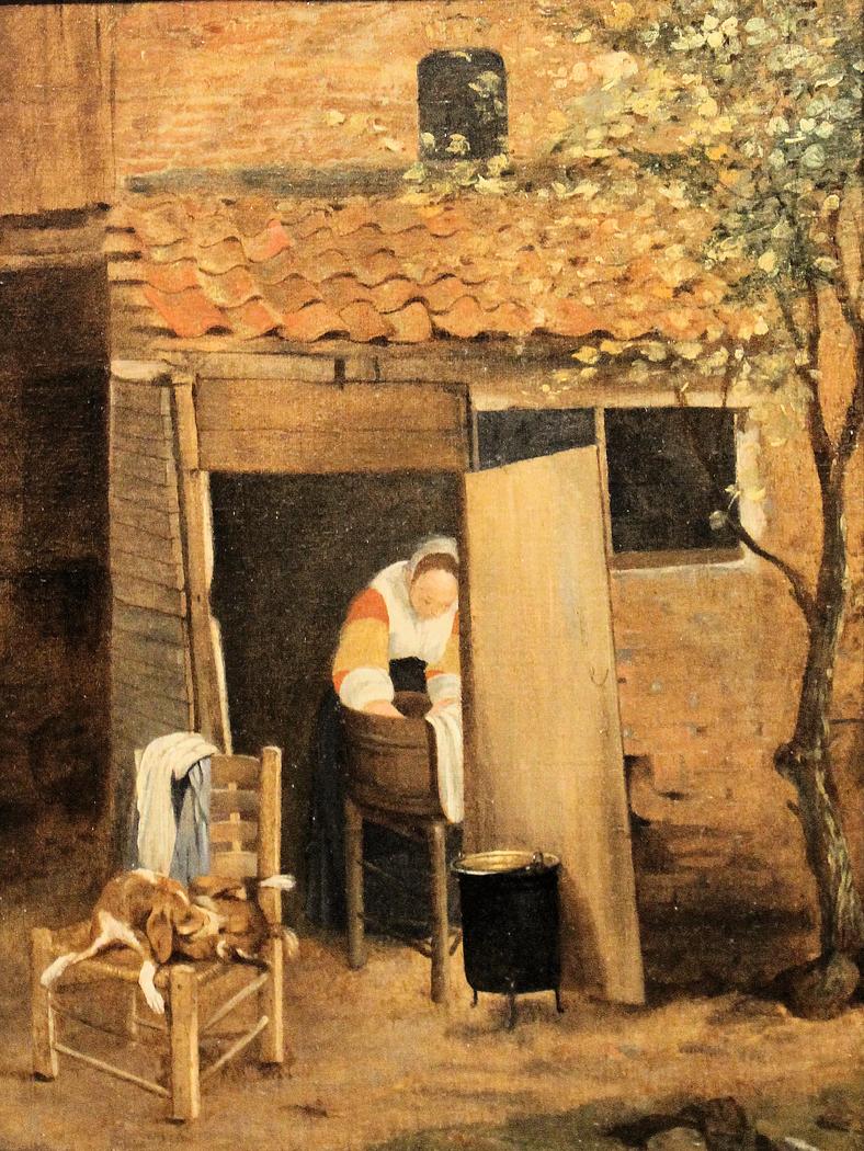 Girl washing clothes