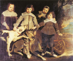 Group of four children - 1641