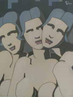 Serie Desnudo femenino I. Grupo femenino I