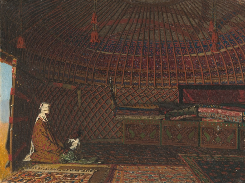 Inside the Tent of a Rich Kirghiz