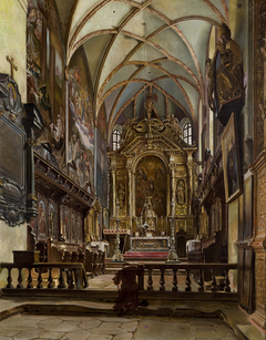 Interior of the Parish Church in Krosno