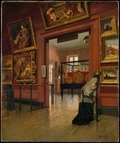 Interior View of The Metropolitan Museum of Art when in Fourteenth Street