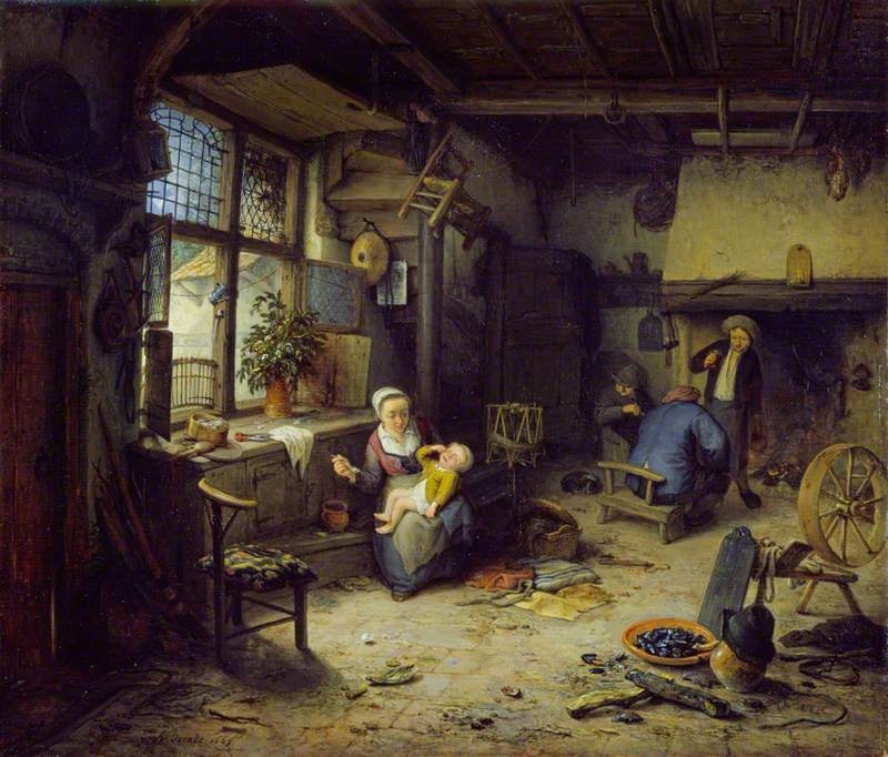 Interior with Peasants