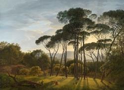 Italian Landscape with Umbrella Pines