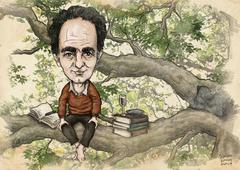 Italo Calvino -caricature