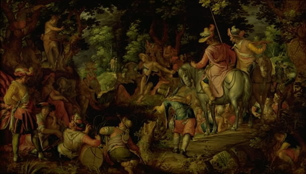 John the Baptist Preaching in the Forest