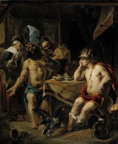Jupiter and Mercury visiting Filemon and Baucis