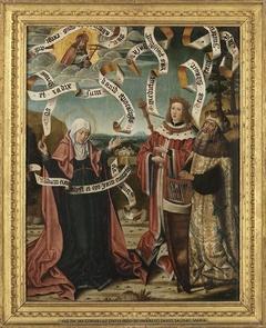 König David, Salomo und Maria Rückseite: Enthauptung Johannes d. T. (Nachfolger)