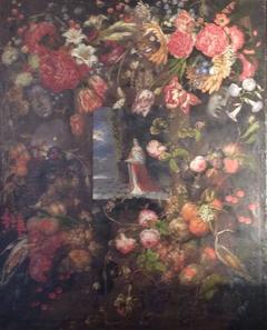 Kurfürstin Dorothea im Blumen- und Früchtekranz