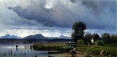 Lake Arezzo in Italy.