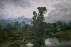 Landscape at El Pardo, Mist rising