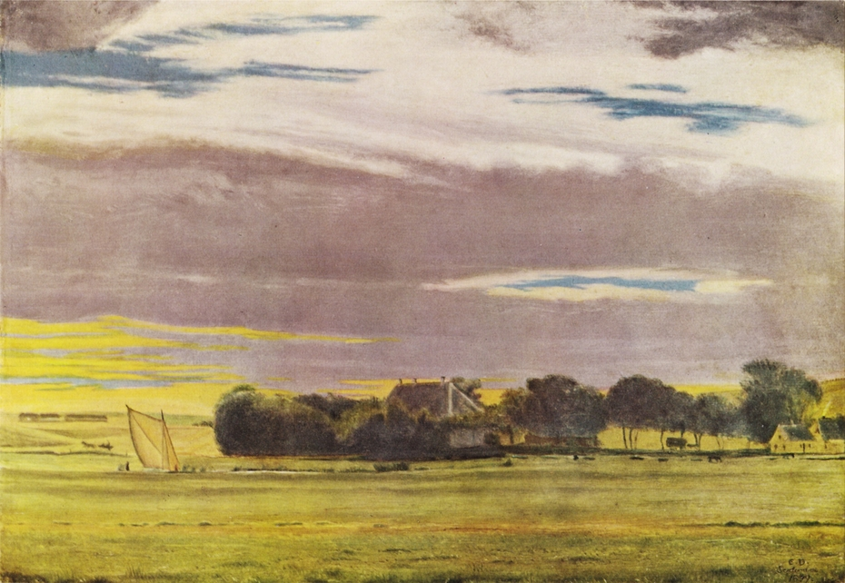 Landscape near the Town of Skive with Skivehus Manor, Jutland
