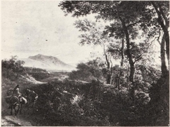 Landscape with a Mulerider