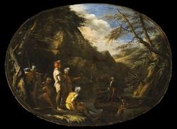 Landscape with Armed Men