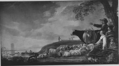 Landscape with fishermen and shepherds with their cattle