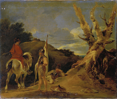 Landscape with Soldier