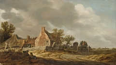 Landscape with Wagons before an Inn
